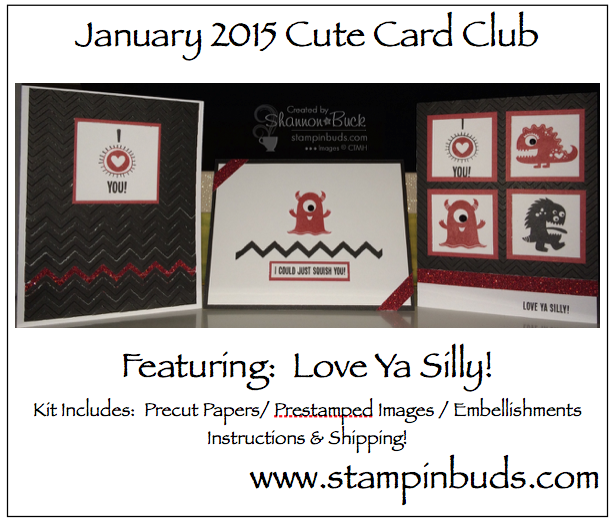 Love Ya Silly – It's my newest Cute Card Club offering