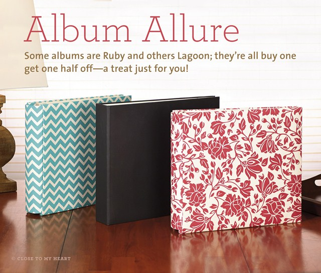 Some Scrapbook Albums are Ruby, others Lagoon…