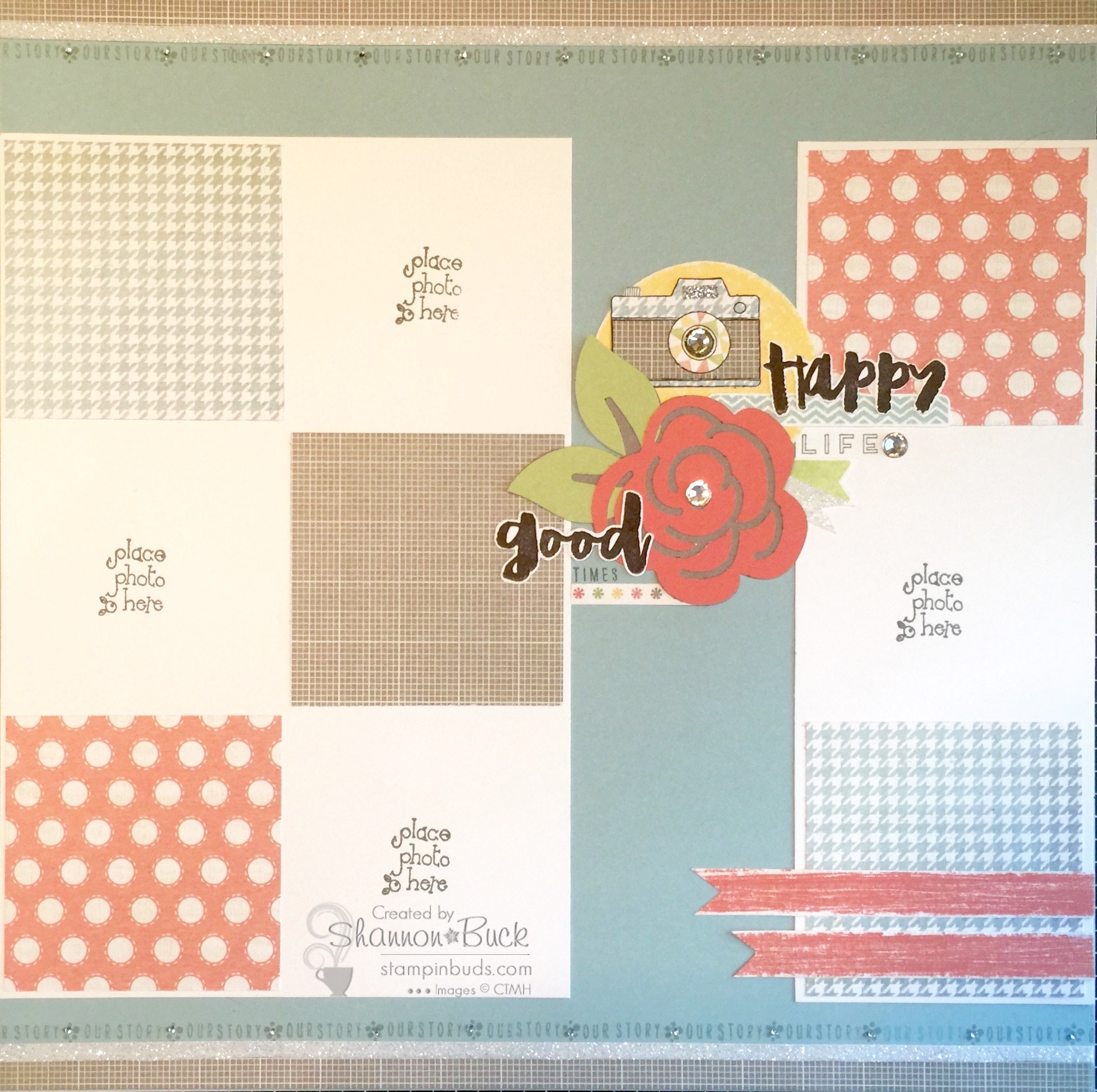 #HelloLife Scrapbooking Page Stampin' Buds