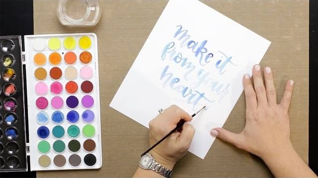Watercolor Brush Calligraphy Video Image