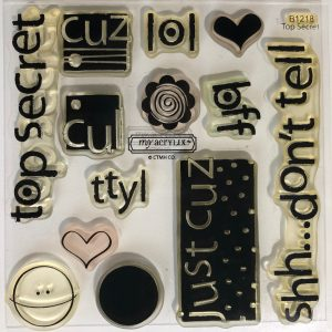 B1218 Top Secret Stamp Set CTMH