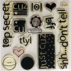 B1218 Top Secret Stamp Set CTMH