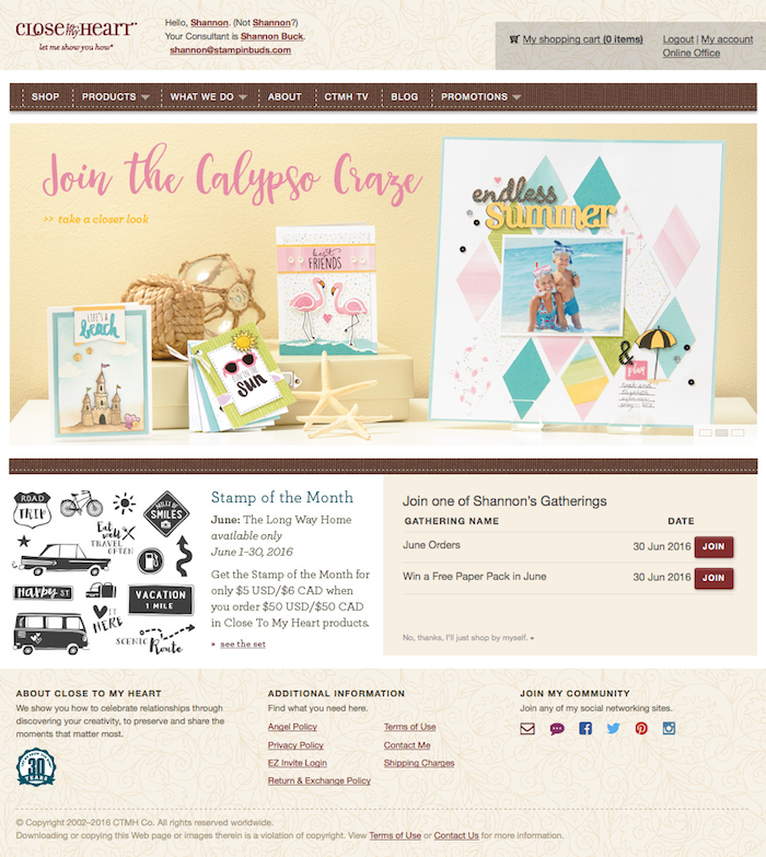 Stampin' Buds OBA Website