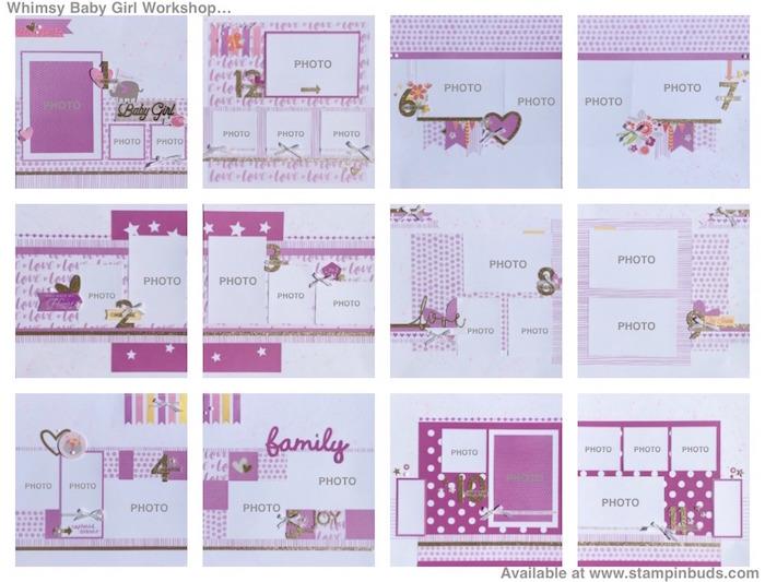 Whimsy Handmade Baby Girl Album Stampinbuds