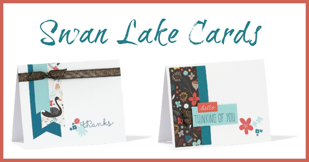 Free Swan Lake Sentiment Cards Template