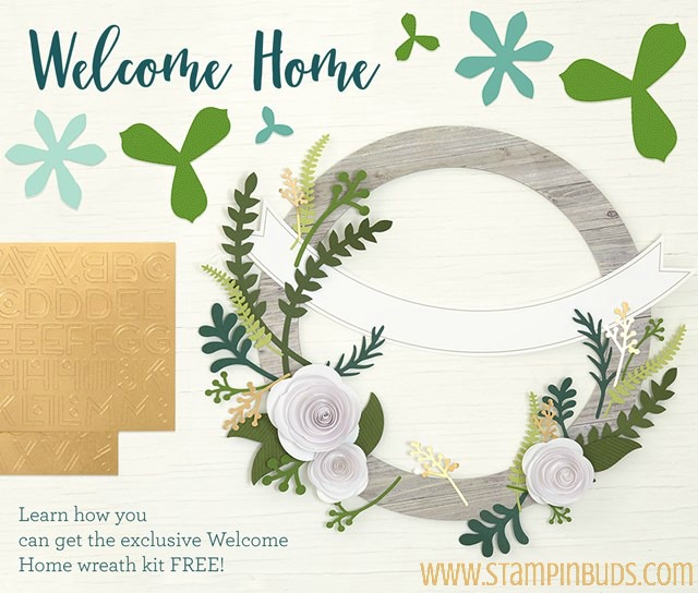 2017 National Papercrafting Day Welcome Home Wreath