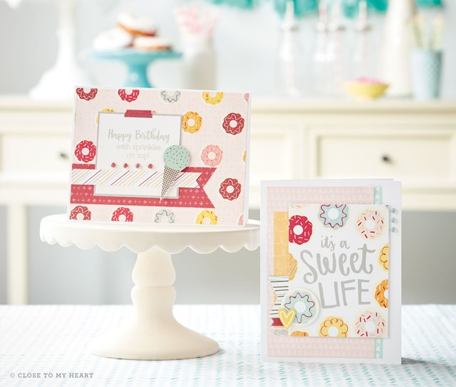 Sugar Rush Happy Birthday and Sweet Life cards