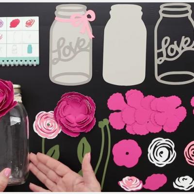 Flower Market Mason Jar Craft