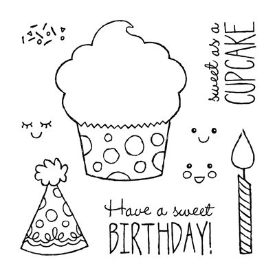 B1532 Sweet Birthday Stamp Set