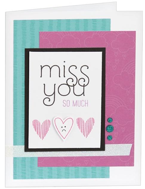 Miss You Cardmaking Kit - Card 1