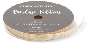 White Burlap Ribbon