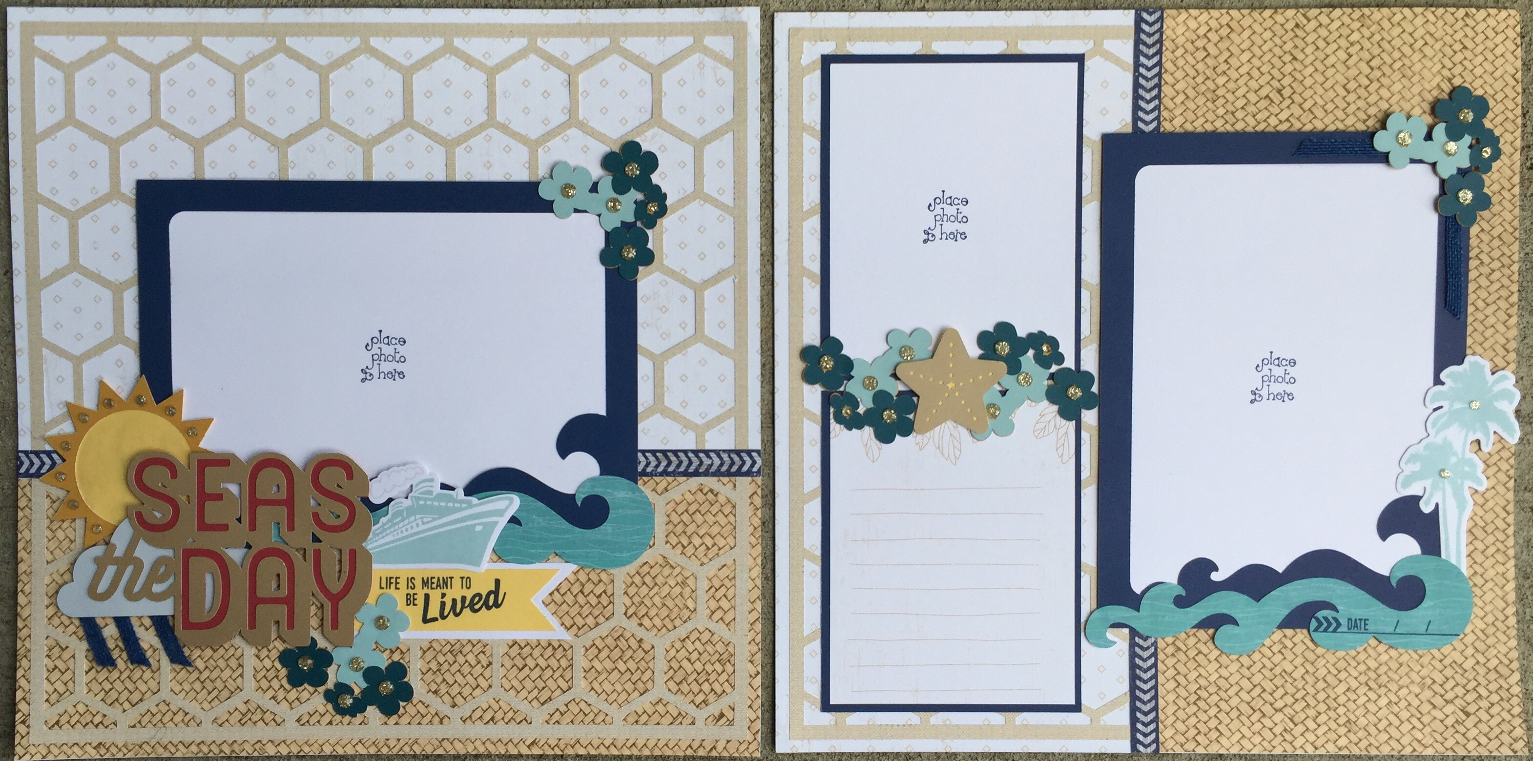 No Worries Scrapbook Layout
