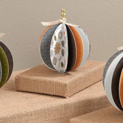 Pretty Paper Pumpkins