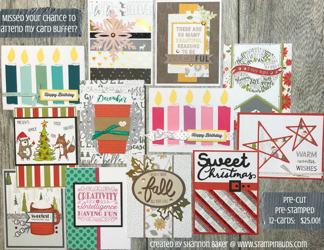 Card Buffet Cards now on Sale!