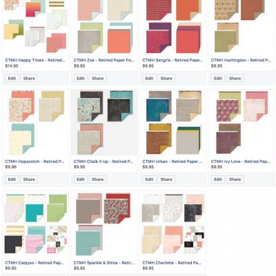 CTMH Retired Paper Packs