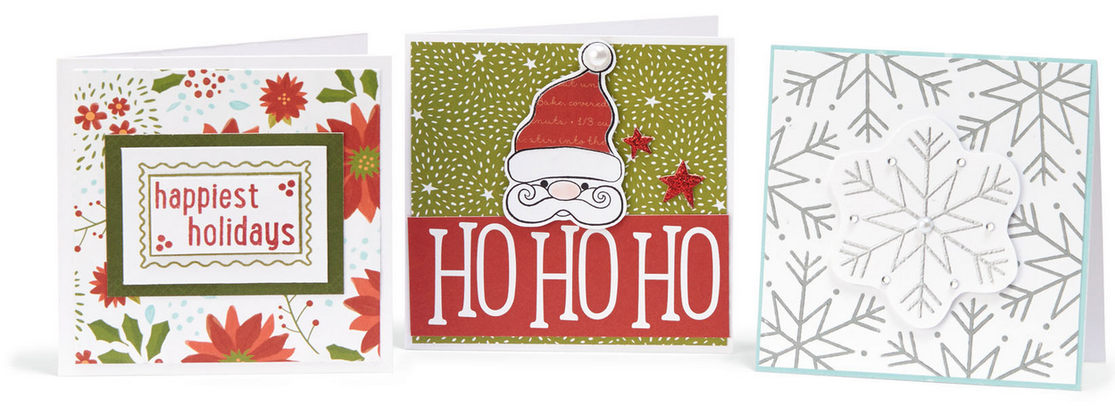 Saint Nick & Snowflake Holiday Mini Cards