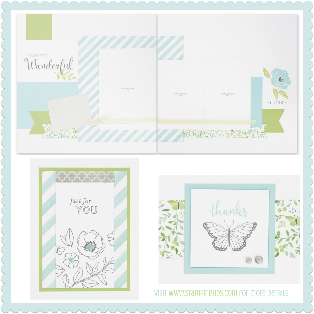 CTMH Chelsea Gardens Creative Insider Crop Scrapbook Layout and Cards