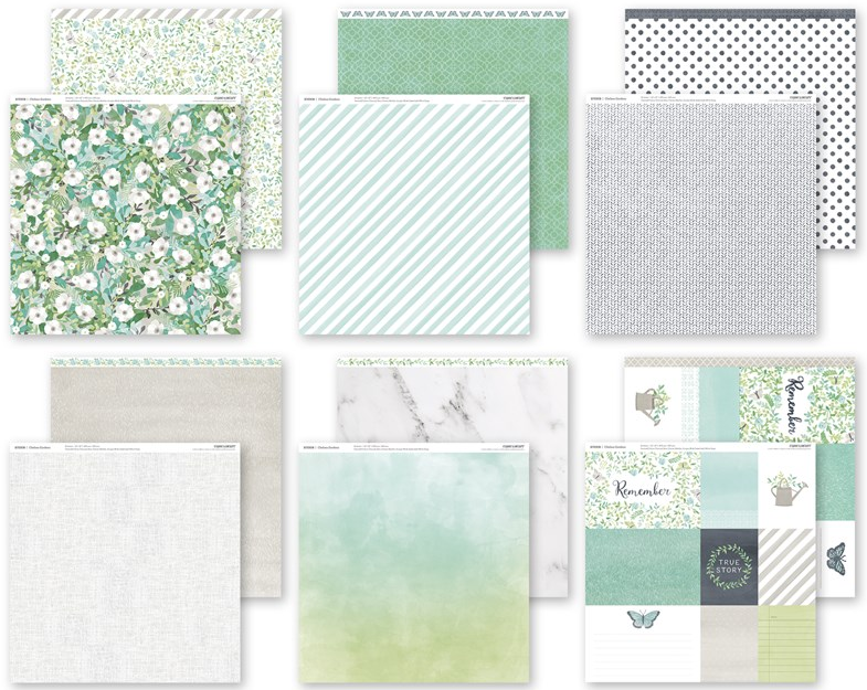 CTMH Chelsea Gardens Paper Pack