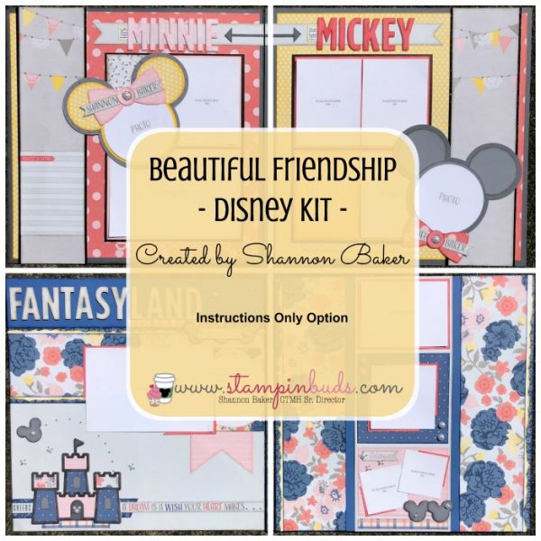 CTMH Beautiful Friendship Disney Kit - Instructions Only