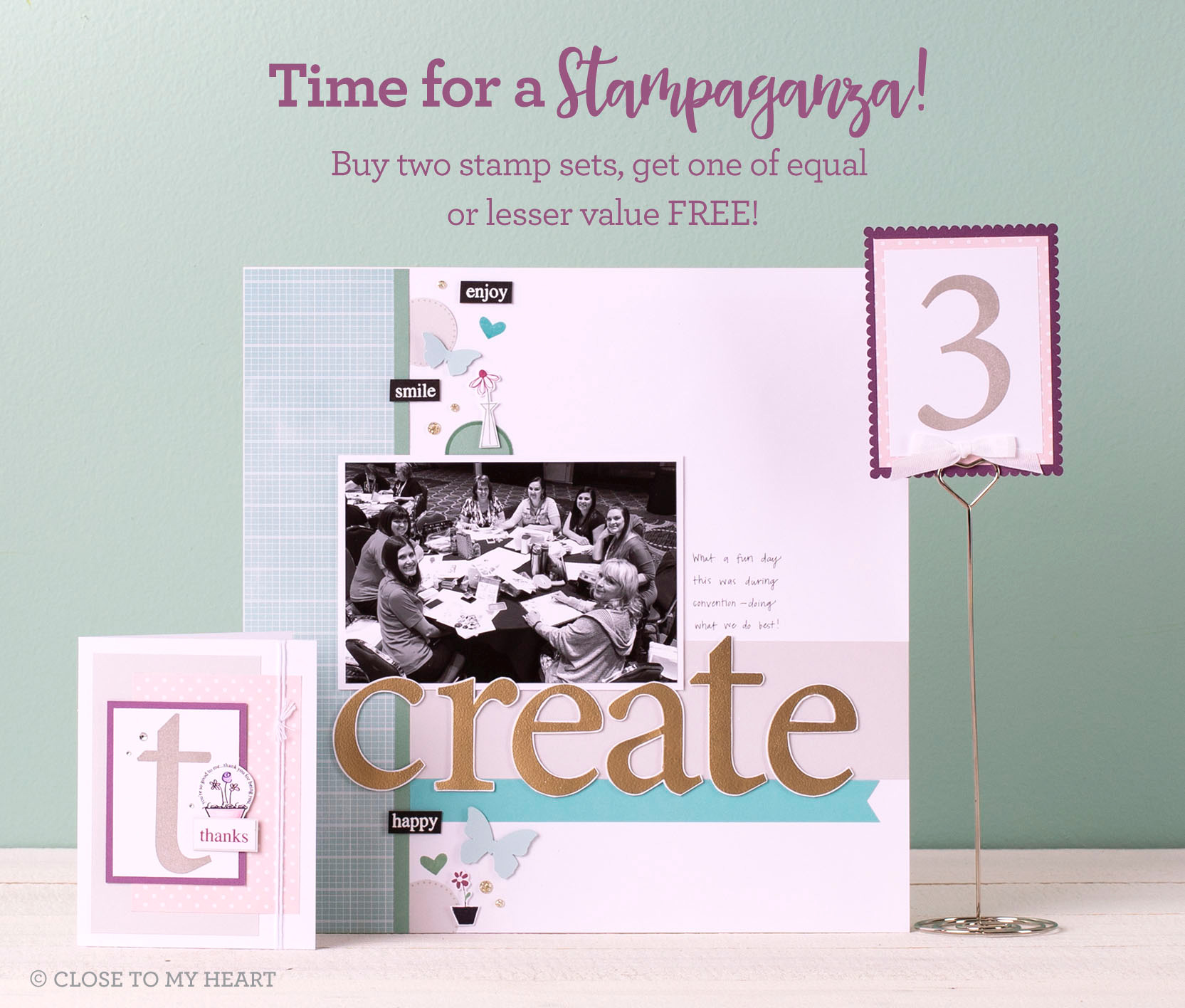 Buy 2 CTMH Stamp Sets, Get one FREE!