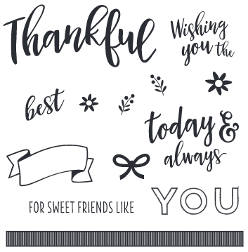 CTMH Sweet Friends Stamp Set