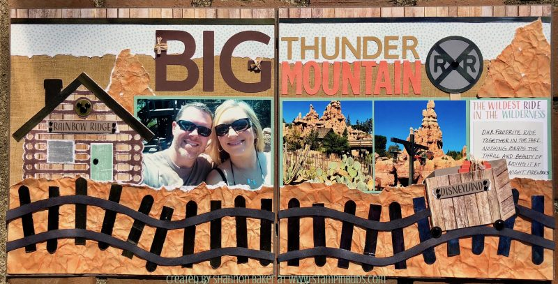 Big Thunder Mountain using Fresh Air Papers