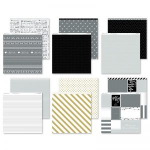 X7226B Silver & Gold Paper Pack CTMH