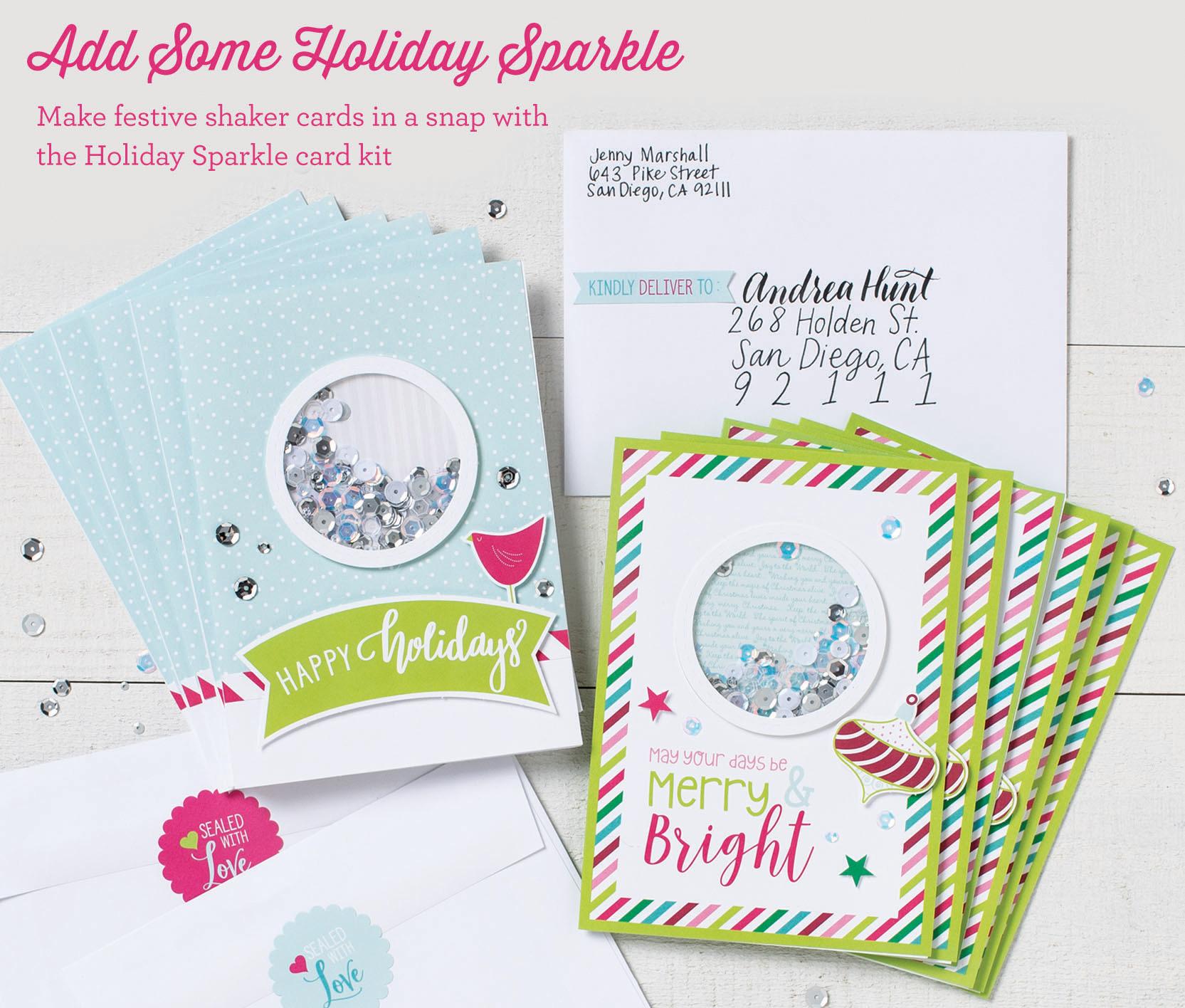 Sparkle & Shine Shaker Cards