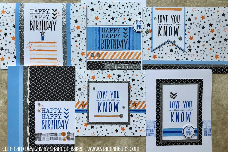 Masculine Epic Birthday Cards!