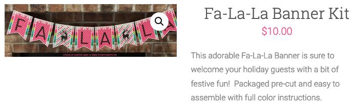 Fa-La-La Banner Kit Cart Photo