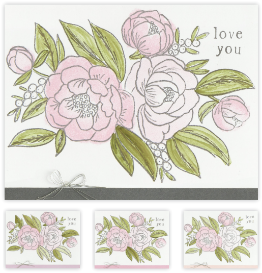 Love Blossoms Card Example 1