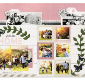 Feels Like Home- Craft with Heart Cut Above Kit - April 2019