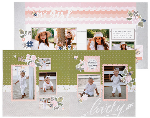 Sweet Girl - Craft with Heart Cut Above Kit - May 2019