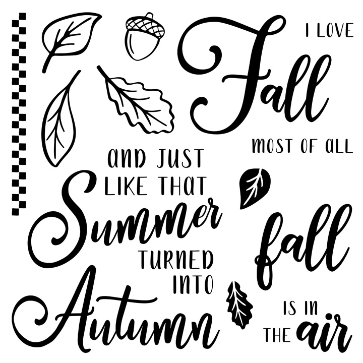 Autumn Air Stamp Set