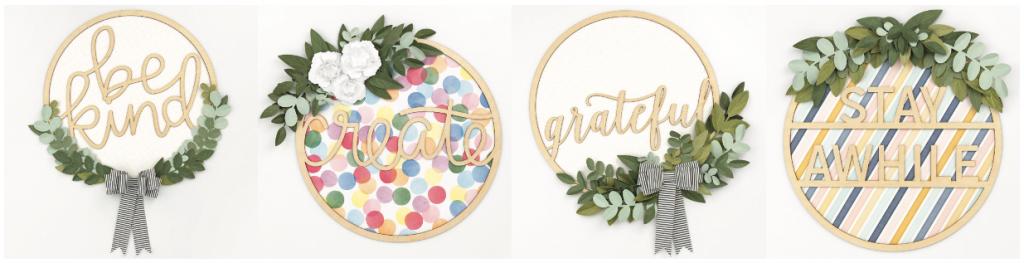 CTMH All Around Creativity Wreaths Examples