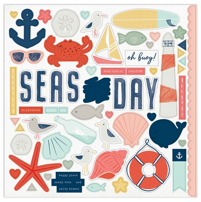 CTMH Seas the Day Sticker Sheet