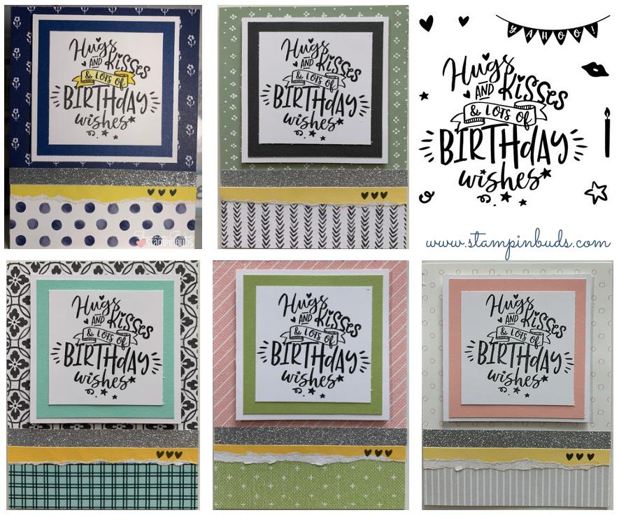 $5 Friday - Birthday Cards Hugs & Kisses