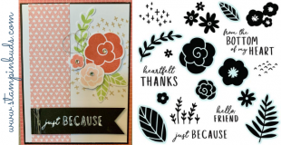 CTMH Simple Florals - Just Because Card