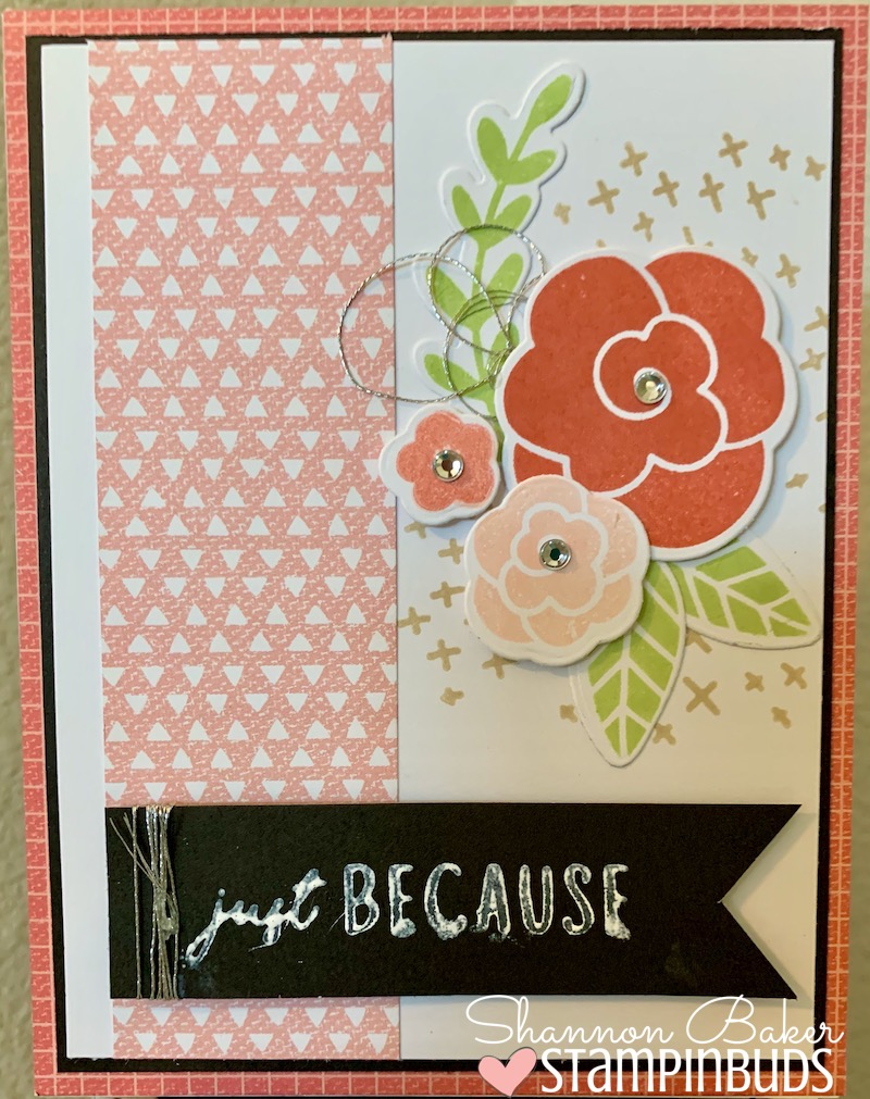 Simple Florals Just Because Card