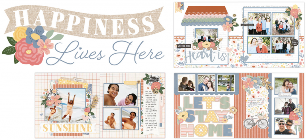 Happiness Lives Here Scrapbooking Kit