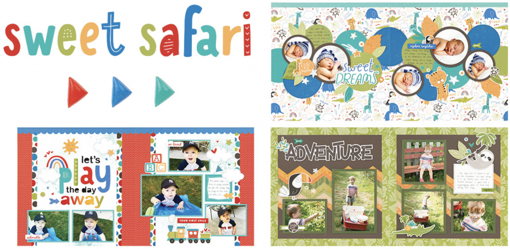 Sweet Safari Scrapbooking LOs