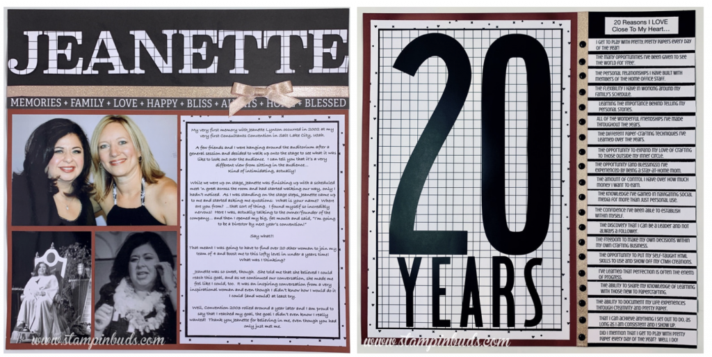 Story 52 - Jeanette 20 Years