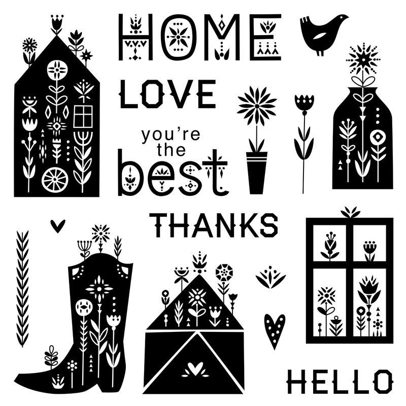 S2104 - Scandinavian Folk Art Greetings