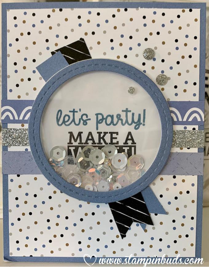 Masculine Blue Belle Birthday Shaker Card