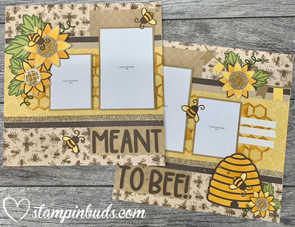 Meant to Bee Scrapbooking Layout