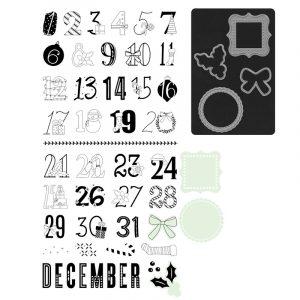 Z3529 Holly Jolly - Scrapbooking Stamp Set