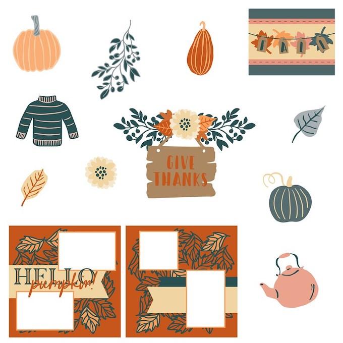 CTMH Pumpkin Spice Digital Art Collection