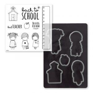 D1706 or CC1158 School Kids Stamp Set + Thin Cuts