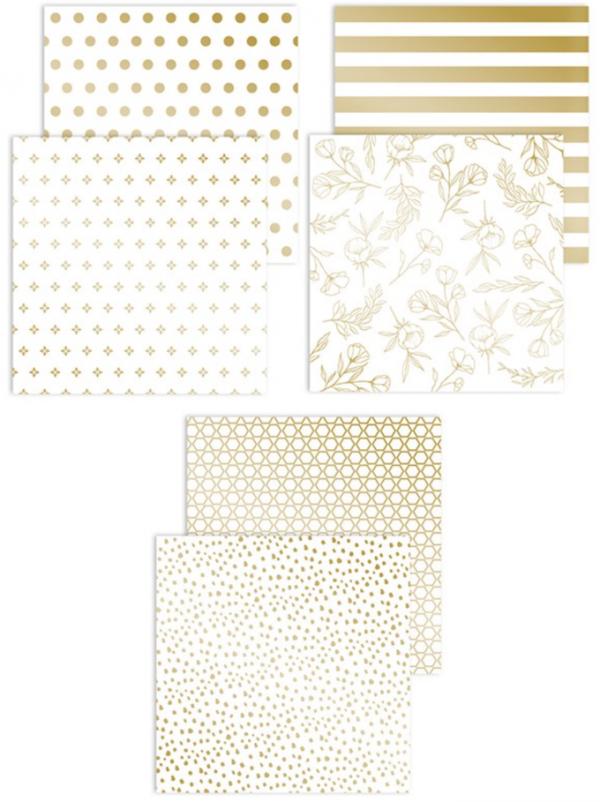 X8019 Gold Foil Paper Pack - CTMH