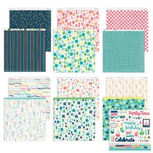 X8016S Party Time Papers + Stickers - CTMH